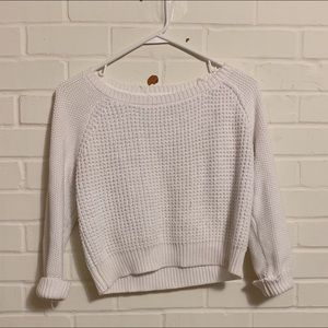 forever 21 white cropped sweater